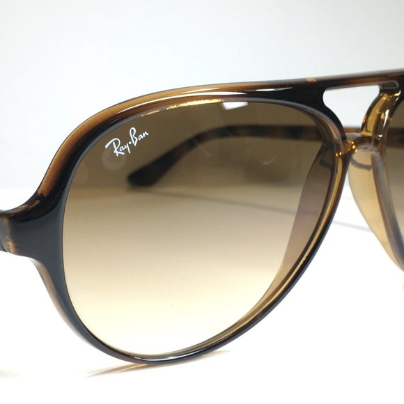Ray Ban Cats 5000 RB4125 710/51 Tortoise Brown Len